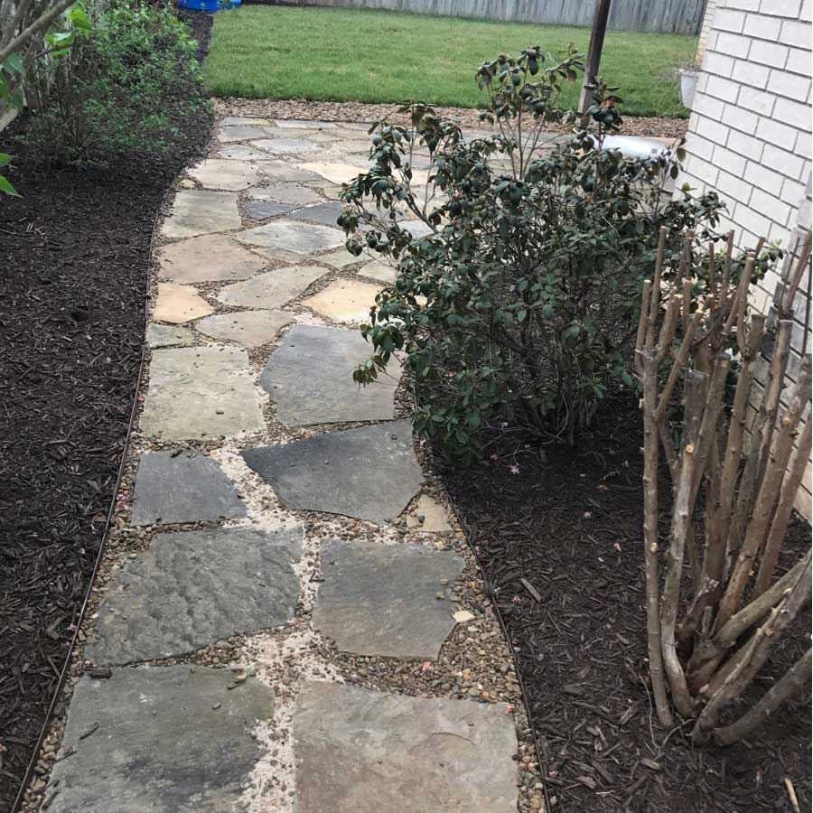 Precision Lawns And Landscaping Llcflagstone Walkway Installation