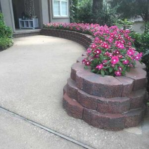 Flowerbed Retaining Wall Construction